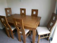 Dorset Oak Furniture Land Dining Table with 6 matching chairs