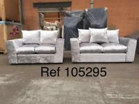 HIGH QUALITY Samantha 3x2 crushed velvet sofas