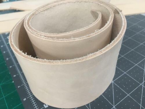 Vegetable Tanned 8/9 3.6MM Cow Leather Tooling Strap Belt Blank Strip Three 3 In