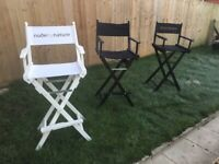 3 The designer labels Director chairs