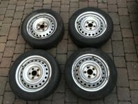 4 x Hankook W310 I*cept Evo Winter Tyres inc. Steel rims 205 55 16 - 6-7mm tread