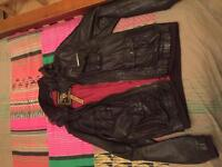 Men's superdry leather jacket (negotiable)