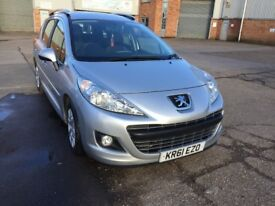 Peugeot 207 SW, Silver, 2012, Full 12 months MOT, only £20 per year to tax. Good condition.