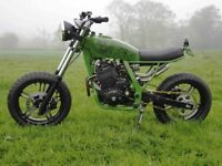 CUSTOM STREET FLATTRACKER BRAT SCRAMBLER NEW BUILD HONDA NX650 NOT BOBBER!