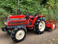 YANMAR FX24D 4WD Compact Tractor & 1.6 Meter Rotavator *** NICE TRACTOR *** 24HP, 1296 Hours