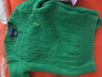 Ralph Lauren apple green jumper boy or girl