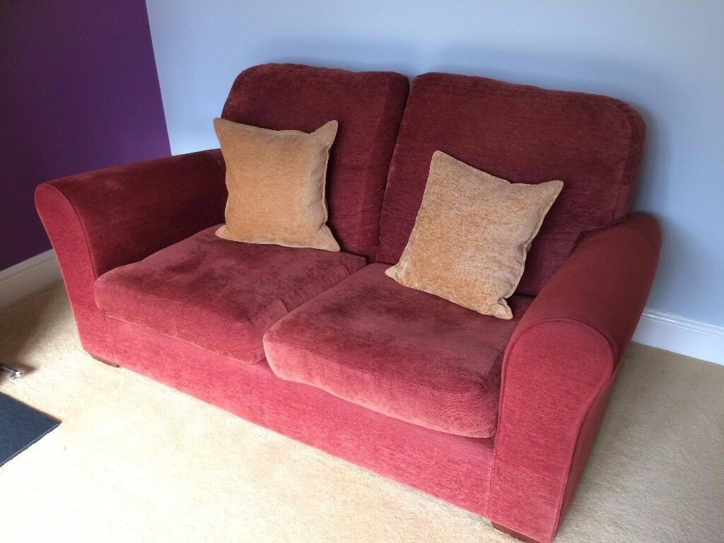 3 and 2 seater John Lewis chenille settees / sofas - suit rentals