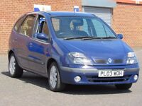2003/03 Renault Scenic 1.4l fidji, 8 months mot, only 78000 miles, 1 previous owner