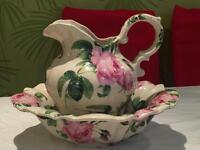 Large jug and bowl set