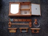 Bathroom cabinet and accessories set