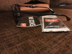 NEW Genuine Rayban Polarised Round Metal RB3545 51/20 Black Sunglasses