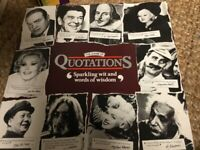 Quotations Board Game by MB with instructions .