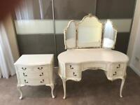 Truly fantastic vintage Louis style dressing table and drawers can deliver