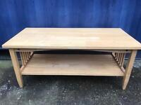Light oak solid wood coffee table FREE DELIVERY PLYMOUTH AREA