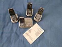 Panasonic cordless phones - 4 handsets