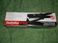 "Babyliss Pro Professional Straightening Iron 2-1/4"" plate size, New"