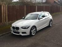 BMW 116D M SPORT, 2012, WHITE, GREAT CAR, £30 TAX PER YEAR, GREAT MPG