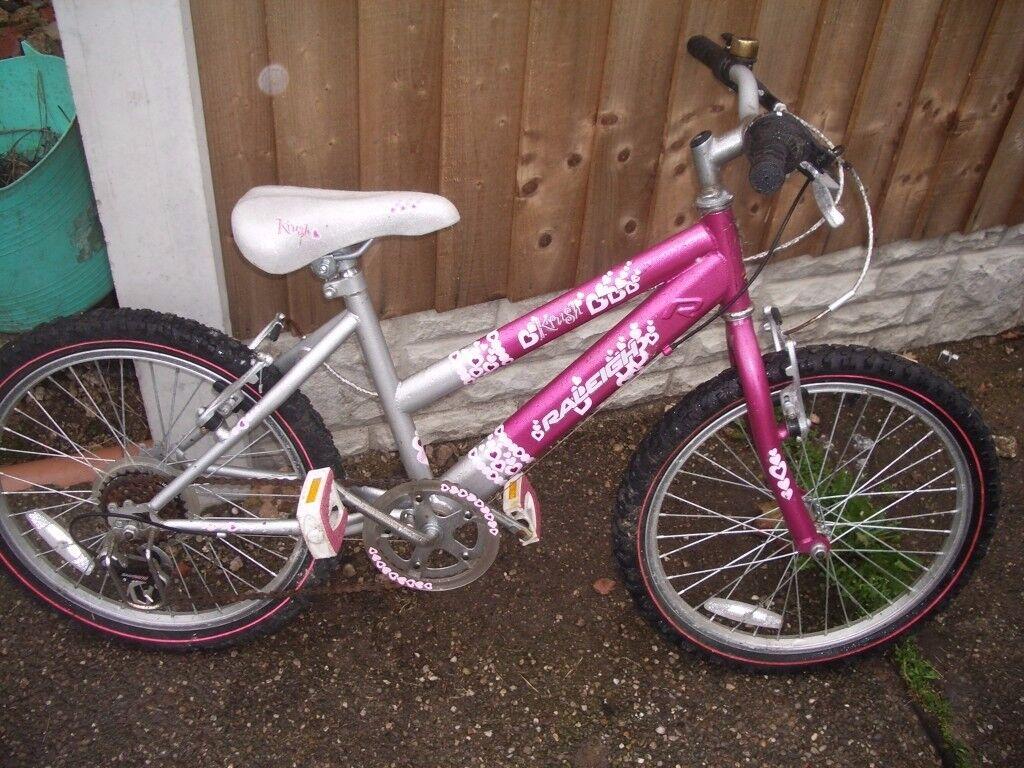 Girls Raleigh Krush push bike for sale