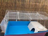 Large blue guinea pig cage