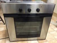 Ariston built-in single fan oven. Also, electric hob.