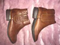Faux Leather Tan Chelsea Boots