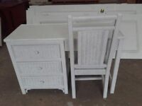 wicker dressing table and chair
