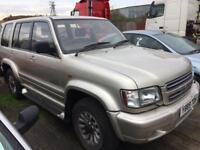 ISUZU TROOPER 3.5 PETROL LPG AUTO INSIGNIA 2001 EXPORT SPARES REPAIRS