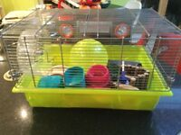 Hamster cage and lots of accessories