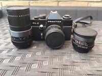 Delightful vintage 35mm Praktica camera and lenses