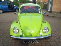 Volkswagen Beetle 1300 1972, MOT and tax exempt.