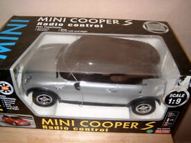 mini cooper remote control car 1.9 scale in silver