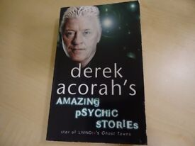 HALLOWEEN READ: DEREK ACORAH´S AMAZING PSYCHIC STORIES - PAPERBACK BOOK