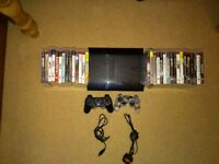 PS3 Super Slim with 300gb & 31 games