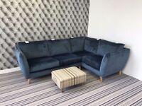 City Loft Corner Sofa In Capri Navy Hox Col 7 Fabric R