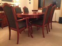 White & Newton Dining Room Suite, perefct condition