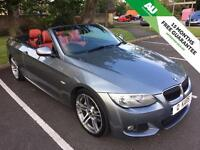 2010 (10) BMW 330d CONVERTIBLE AUTO/ RED LEATHER/ XENON/ PRO NAV!