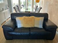2xleather sofas