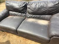 Large leather sofa free