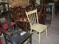 WINNIPEG'S LARGEST SELECTION OF OLD ANTIQUE WOOD CHAIRS $15-$40