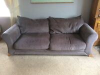 Grey Fabric 3 Seater Sofa