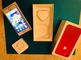 IPHONE 7 256GB RED WITH HEADPHONES ADPATER AND PLUG