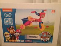 Paw Patrol tricycle new