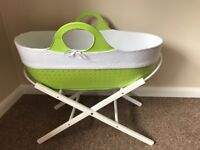 MOBA Moses basket & stand (apple green)