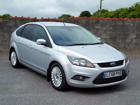 2008 58 Ford Focus 1.6 Diesel Titanium 109, £30 Road Tax, New MOT, Recent Service in Silver Metallic