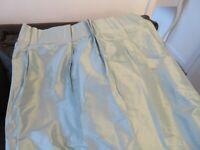 Laura Ashley Pale Blue Silk Curtains