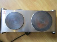 Andrew James Electric Double Hob - Portable Hot Plates - 2 Ring Hob with Die-Cast Iron Hotplates