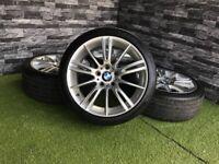 18 '' GENUINE BMW 3 4 SERIES 193 M SPORT E90 E91 E92 E93 ALLOY WHEELS FERRIC GREY