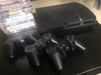 Playstation 3 Slim (PS3) 250GB + 3 Controllers + 18 Games