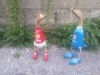 wooden football ducks