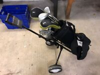 Set of Golf Clubs, Bag and Trolly